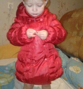 Куртка удлиненная  92 см.2-3 года.