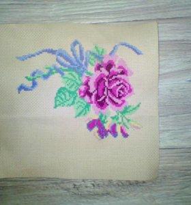 Роза крестиком
