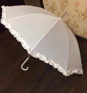 Зонт белый на свадьбу