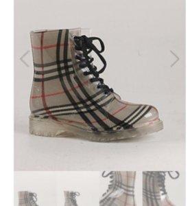 Сапоги ботинки резиновые 38 новые