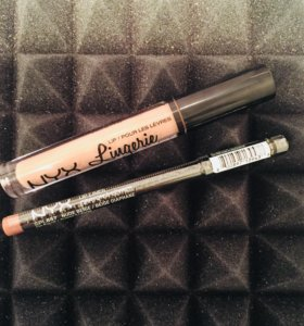Помада NYX lingerie оттенок Honeymoon+карандаш