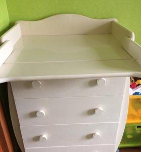 Кроватка-маятник+комод