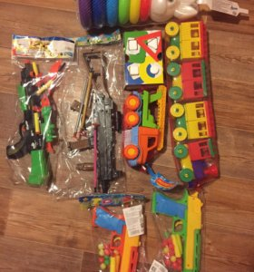 Кукла машинка игрушка пистолет