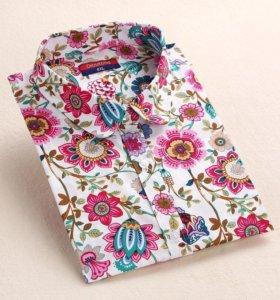 Блуза (рубашка) с цветочным принтом