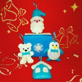 Комплекты игрушек новогодних