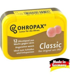 Восковые беруши для сна OHROPAX Classic 12 шт.
