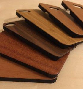 Деревянные чехлы IPhone, Samsung