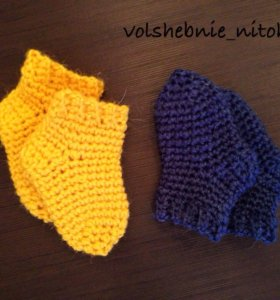 Носочки для новорождённых 100% шерсть