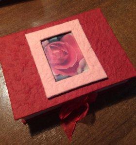 Подарочный набор бумаги и конвертов в шкатулке