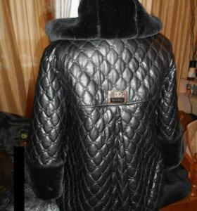 """Куртка кожа стежка """"шанель"""""""