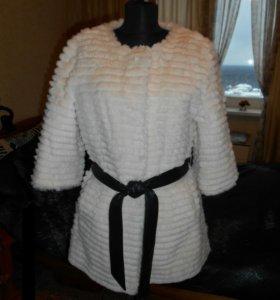 Шубка-пальто из натурального меха