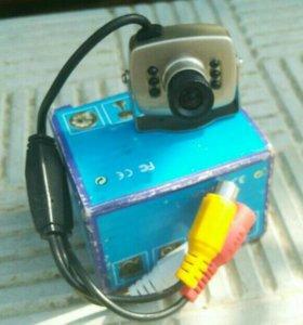 Видеокамера с микрофоном