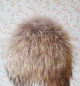 Новая шапка сноп из енота