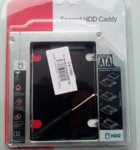 """Салазки hdd 2.5"""" в отсек привода ноутбука 12.7 мм"""