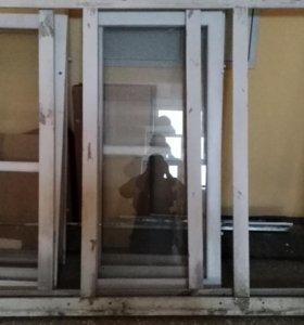 Окна и рамы с балкона