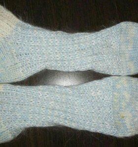 Вязанные носочки, новые.