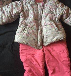 Куртка с комбезом 86 размер осень-весна на 1-1,5 г