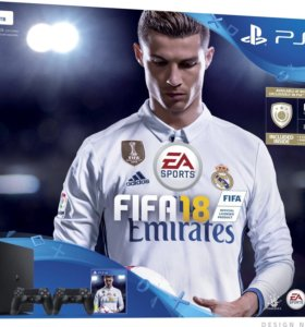 Sony PlayStation 4 + FIFA 18 + 2 геймпад