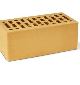 Кирпич облицовочный полуторный желтый