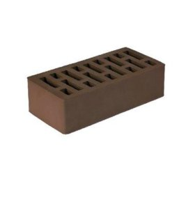 Кирпич облицовочный полуторный шоколадный