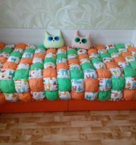 Лоскутное одеяло, бомбон коврики для малышей