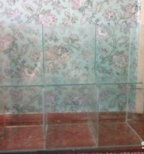 Двухуровневый многосекционный аквариум на 188 литр