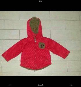 Теплая кофта-курточка на 3 года