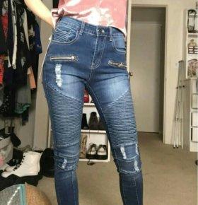 Новые джинсы в байкерском стиле