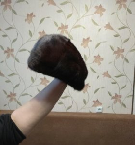 Норковая шапка-кепка