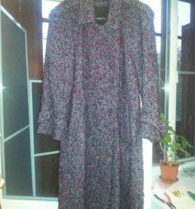 пальто женское из натуральной шерсти