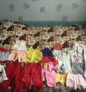 Пакет вещей для девочки до 1,5 лет