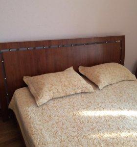 Кровать 2х спальная с подъёмным механизмом мдф