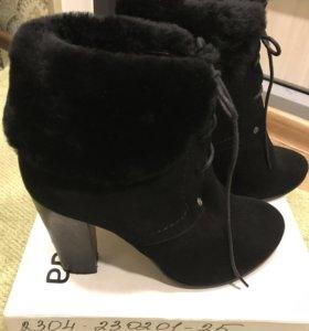 Зимние ботинки 38 р. Натур велюр, натур мех