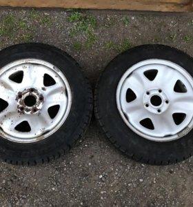 Зимние колёса R15 на Волгу 2(шт).