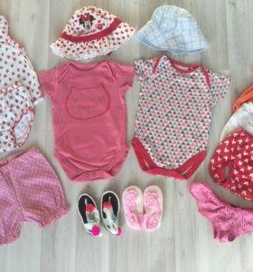 Одежда на девочку 6-12 месяцев