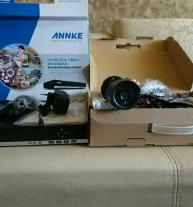 Комплект уличного видеонаблюдения ANNKE 4 камеры.