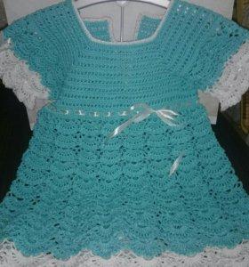 Детский комплект платье и шапочка
