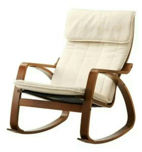 Кресло качалка Поэнг Икеа Ikea