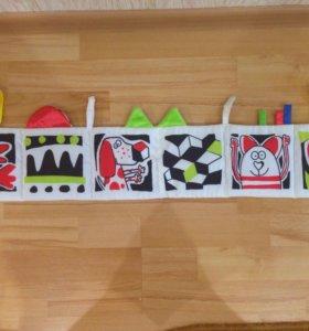 Развивающая книжка-игрушка для малыша от 0 месяцев