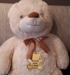Плюшевых медведь 90 см