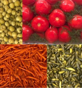 Разносолы, соления, корейские солаты