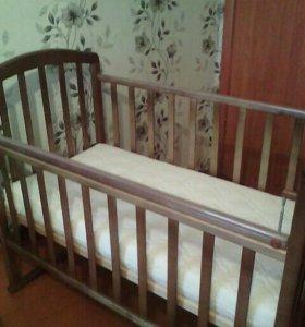 Детская кроватка+матрац