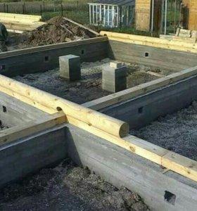 Фундамент, бетонные работы