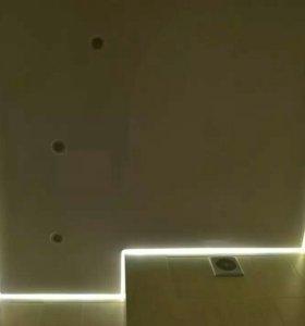 Натяжной потолок в коридор м-01