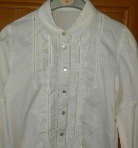 Блузка белая нарядная р.123-128