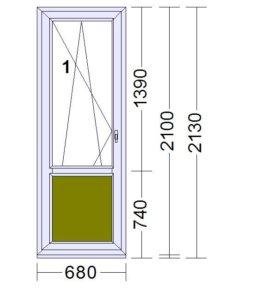 Балконная дверь.