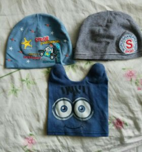 3 шапочки на 2-3 года
