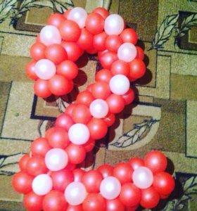 Фигуры из воздушных шаров. Оформление фоздушными ш
