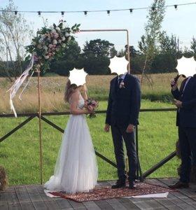 Арка для свадьбы, регистрации, церемонии из меди