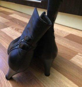 Ботинки кожаные, женские .
